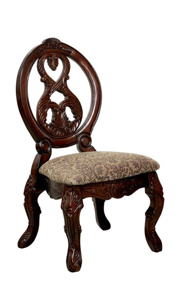2 Furniture of America Tuscany I Antique Cherry Side Chairs FOA-CM3845CH-SC-2PK