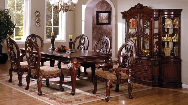 Furniture of America Tuscany II Formal Dining Table FOA-CM3845CH-T-TABLE