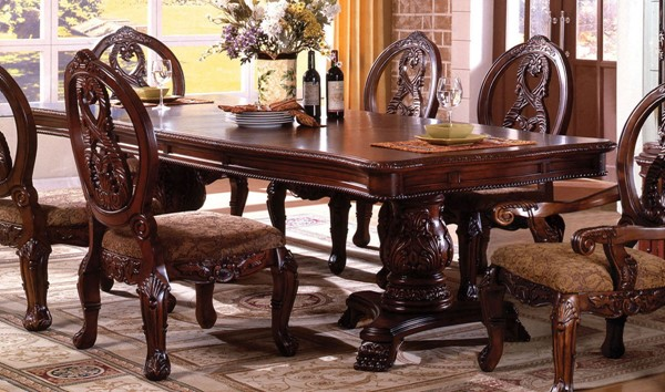 Furniture of America Tuscany I Formal Dining Table FOA-CM3845P-CH-T-TABLE