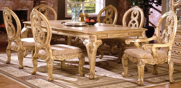 Furniture of America Tuscany III 9pc Dining Room Set FOA-CM3845WH-T-9PC