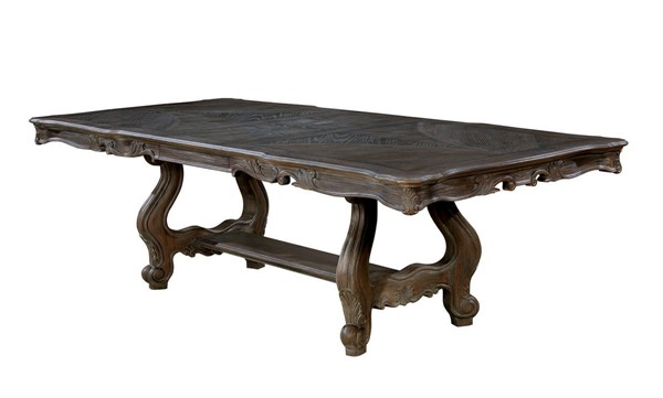 Furniture of America Charmaine Antique Gray Dining Table FOA-CM3856T-TABLE
