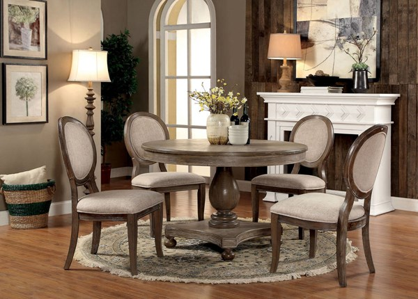Furniture of America Siobhan Round Dining Table FOA-CM3872RT-TABLE