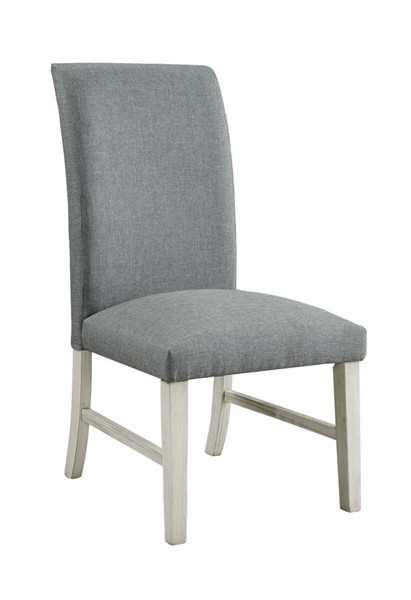 2 Furniture of America Siobhan II White Side Chairs FOA-CM3874WH-SC-2PK