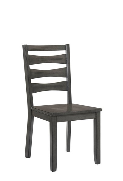 2 Furniture of America Caprice Antique Gray Side Chairs FOA-CM3879SC-2PK