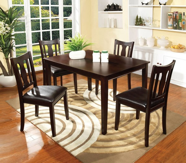 Furniture of America Northvale I 5pc Dining Room Set FOA-CM3888T-5PK