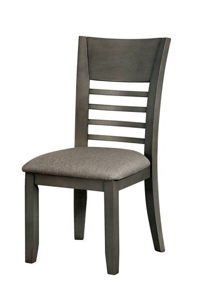 2 Furniture of America Hillsview Gray Side Chairs FOA-CM3916GY-SC-2PK