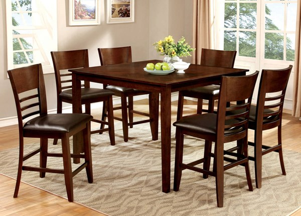 Furniture of America Hillsview II 7pc Counter Height Set FOA-CM3916PT-7PC