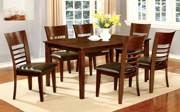 Furniture of America Hillsview I 7pc Dining Room Set FOA-CM3916T-60-7PC