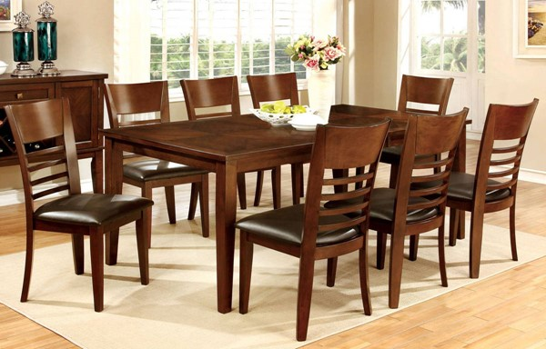 Furniture of America Hillsview I 9pc Dining Room Set FOA-CM3916T-78-9PC