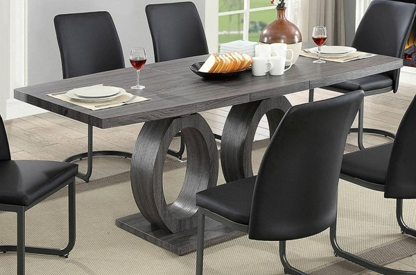 Furniture of America Saskia Gray Dining Table FOA-CM3918T-TABLE