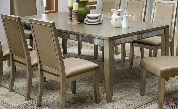 Furniture of America Echo Antique Gold Dining Table FOA-CM3980T