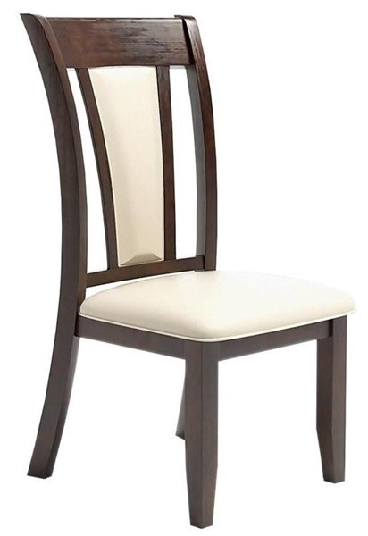 2 Furniture of America Brent Ivory Side Chairs FOA-CM3984SC-2PK