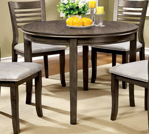 Furniture of America Dwight III 42 Inch Round Dining Table FOA-CM3988GY-RT