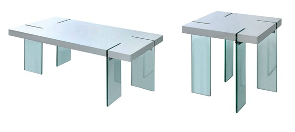 Furniture of America Thorold White 3pc Coffee Table Set FOA-CM4055-OCT-S1