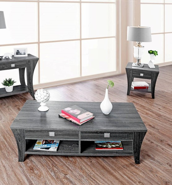Furniture of America Amity Gray 3pc Coffee Table Set FOA-CM4085-OCT-S1