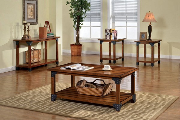 Furniture of America Bozeman 3pc Coffee Table Set FOA-CM4102-3PK