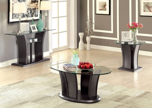 Furniture of America Manhattan IV Gray Coffee Table FOA-CM4104GY-C-PK