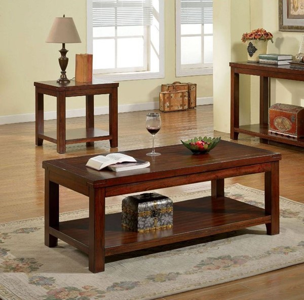 Furniture Of America Estell 3pc Coffee Table Set FOA-CM4107-OCT-S1