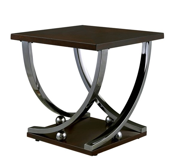Furniture of America Angra Brown End Table FOA-CM4112E