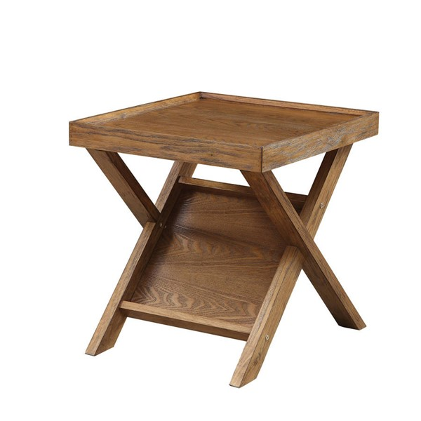 Furniture of America Caitlan Light Oak End Table FOA-CM4177E