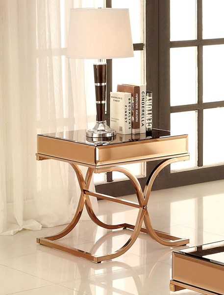 Furniture of America Sundance Brass End Table FOA-CM4230E