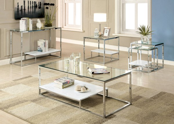 Furniture of America Vendi Coffee Table FOA-CM4231WH-C