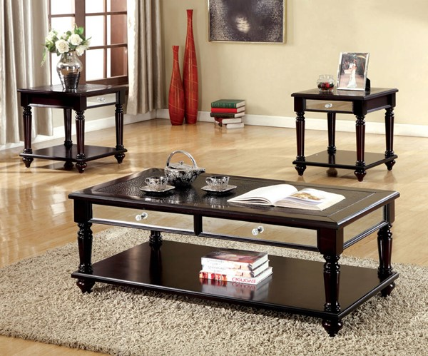 Furniture of America Horace 3pc Coffee Table Set FOA-CM4242-3PK