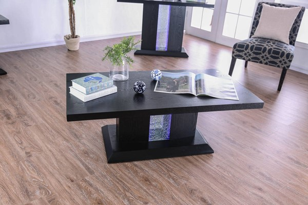 Furniture of America Tobias Black Coffee Table FOA-CM4252C