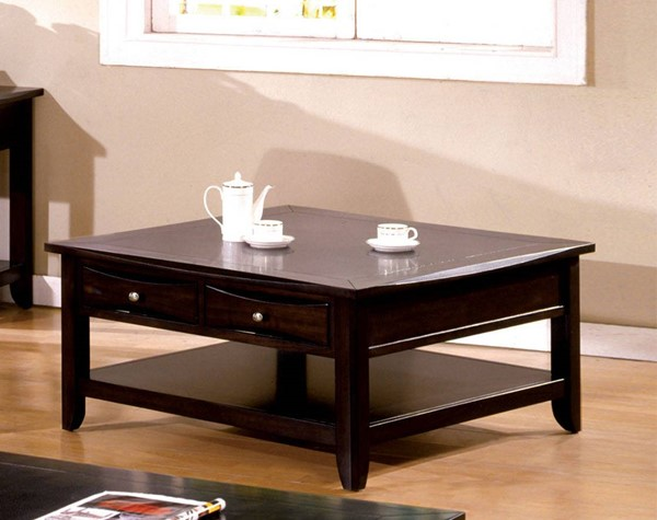 Furniture of America Baldwin Square Cocktail Table FOA-CM4265DK-SQ