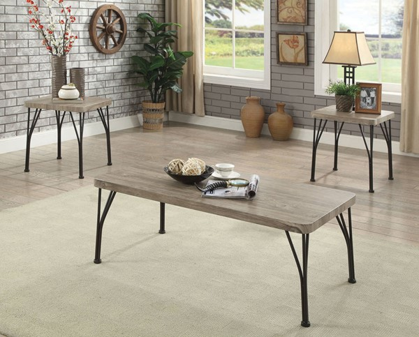 Furniture of America Majorca Gray 3pc Coffee Table Set FOA-CM4279-3PK