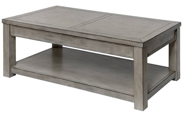Furniture of America Meadow Antique White Coffee Table FOA-CM4327WH-C