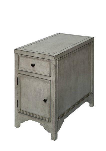 Furniture of America Meadow Antique White Side Table FOA-CM4327WH-T