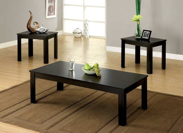 Furniture of America Bay Square 3pc Coffee Table Set FOA-CM4329-3PK
