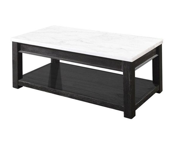 Furniture of America Mcgill White Black Coffee Table FOA-CM4337C