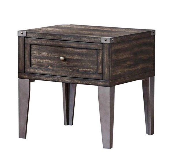 Furniture of America Piedmont Dark Oak End Table FOA-CM4387E