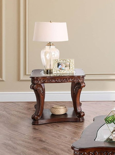 Furniture of America Walworth Dark Oak End Table FOA-CM4428E