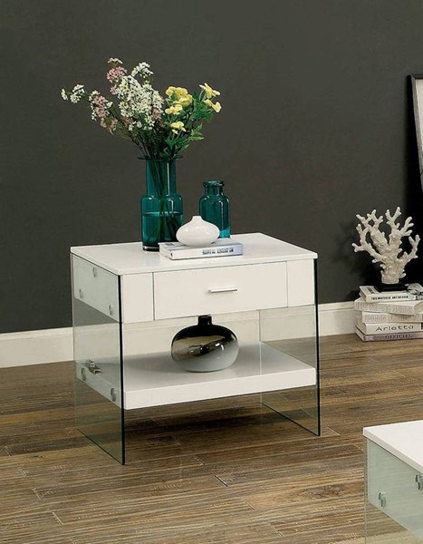 Furniture of America Raya End Table FOA-CM4451WH-E