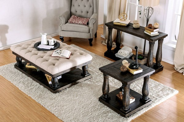 Furniture of America Keira Cushion Top Coffee Table FOA-CM4455F-C-TABLE