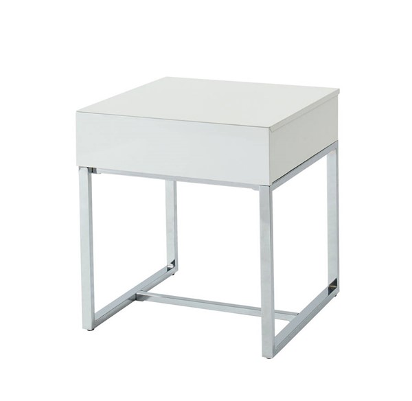 Furniture of America Juni White End Table FOA-CM4456E