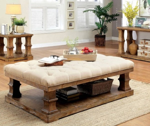 Furniture of America Granard Cushion Top Coffee Table FOA-CM4457F-C-PK