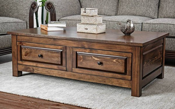 Furniture of America Annabel Walnut Coffee Table FOA-CM4613C