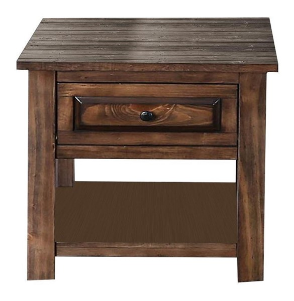 Furniture of America Annabel Walnut End Table FOA-CM4613E