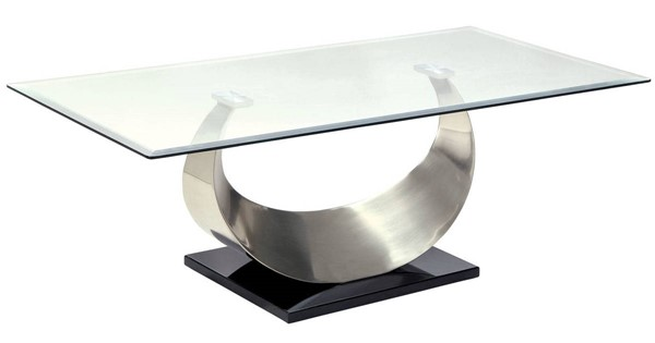 Furniture of America Orla II Satin Plated Black Coffee Table FOA-CM4726C-TABLE