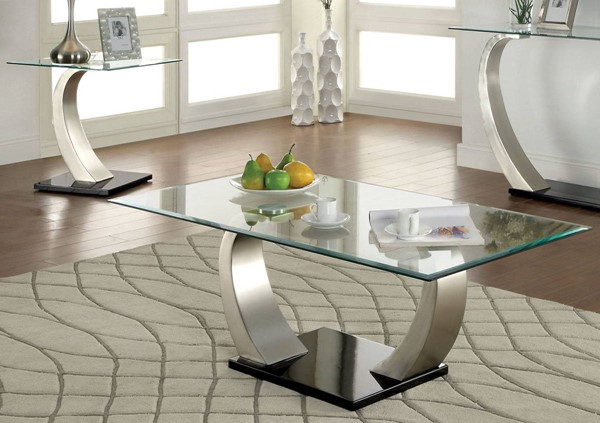 Furniture of America Roxo 3pc Coffee Table Set FOA-CM4728-OCT-S1