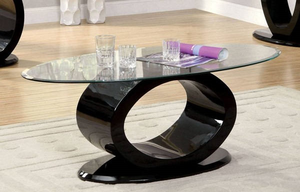 Furniture of America Lodia III Black Coffee Table FOA-CM4825BK-C