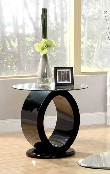 Furniture of America Lodia III Black End Table FOA-CM4825BK-E