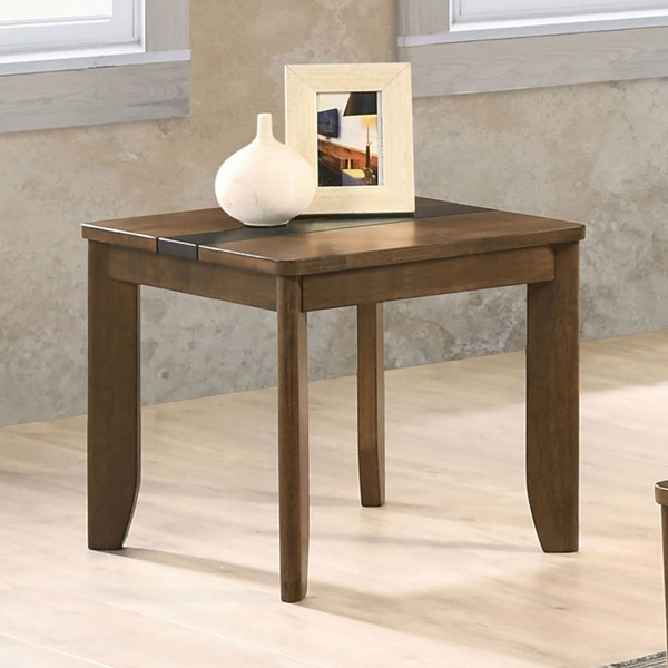 Furniture Of America Jacob Light Walnut Gray End Table FOA-CM4911E