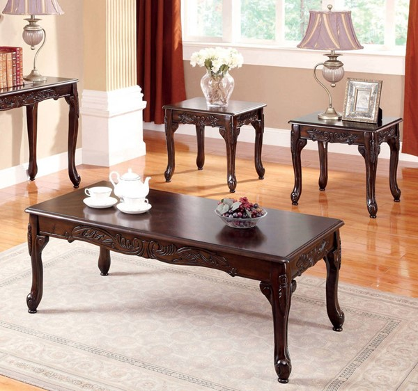 Furniture of America Cheshire 3pc Coffee Table Sets FOA-CM4914-3PK-VAR