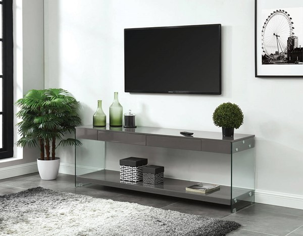 Furniture of America Sabugal Gray 70 Inch TV Stand FOA-CM5206GY-TV-70