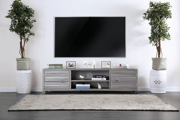 Furniture of America Mccredmond Silver TV Stand FOA-CM5458-TV